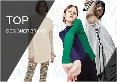 針對毛衫行業,對POP2019年上半年設計師品牌關注數據進行整理,精選出TOP30的女裝品牌做地區分布占比、品牌關注認識度、風格辨識度、關鍵單品及設計細節的提煉,并結合毛衫市場話題、熱門流行趨勢做女裝毛衫設計師品牌的重點趨勢預測。