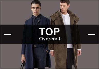 7月份款式庫中大衣單品流行方向分析,商務休閑風格占據58%的市場份額,而時尚休閑類大衣款式也占了23%的比例,相比6月份均有所上升。而圖案類秋冬季依舊以格紋圖案為主上升4%,尤其是細格紋。拼接工藝在2019秋冬季繼續蔓延,以異材質拼接最為重要。