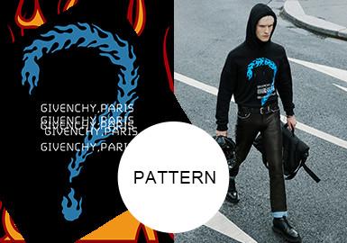 時尚火焰風--男裝圖案趨勢
