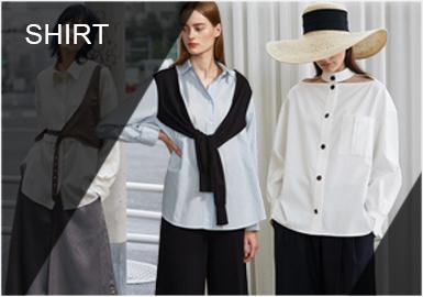 摒弃繁复设计开始注重实穿性与舒适感,经典流线型轮廓具有经久不衰的吸引力,而不对称造型使传统版型与创意设计相结合,同时融入新意的元素打造更具有玩味新颖感的衬衫。