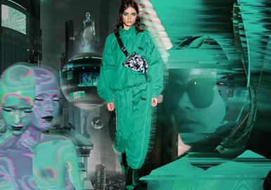 机械绿--女装主题色彩趋势