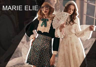 """十九世纪,兴起了短期的艺术运动——纳比派的特色归纳为两种变形的理论:""""客观的变形,它基于纯美学,装饰概念,以及色彩和构图的技术要素;再就是主观的变形,它使画家个人的灵感得以发挥。""""Marie Elie秋冬从纳比派代表人物Maurice Denis著作中汲取灵感,将明亮的色彩组合,深浅颜色的柔美和谐发挥极致,为极繁印花、格纹和刺绣等经典设计带来新意。"""