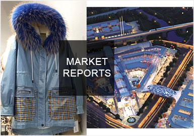 海宁市场的皮草服装有明显的年轻化趋势,燕麦色、迎春花黄、雾霾蓝和千禧粉作为今年的流行色,非常适合年轻人穿搭,可重点关注。羽绒面料、毛呢面料拼接皮革皮草的款式相比上个月增多,更适合冬波段组货。派克服是重点单品,工装风火热,设计原则以时尚且高度实用为主,推荐增加抽绳、系带细节,或在口袋设计上大做文章。