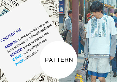 印刷体字母--男装图案趋势