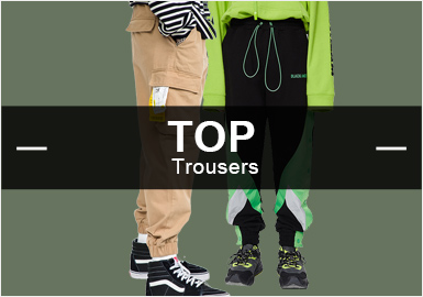 根据POP8月份用户下载量的TOP100男装裤子数据分析,时尚休闲与运动休闲占比不相上下,机能风格依旧占据市场重要位置。格纹元素回归,迷彩也秋冬季节也一样扮演着重要的角色。拼接工艺相比上月有小幅度提升。