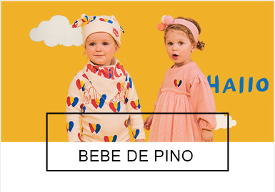 """源自于韩国的童装品牌BEBE DE PINO于2010年上市,蕴含着北欧风格的BEBE DE PINO在西班牙语叫""""小松鼠""""。在本季BEBE DE PINO 延续了品牌经典的蓝、红色彩运用,在毛衫款式上开衫款式成为本季开发主流,材质上舒适的灯芯绒运用则让孩子们更加贴近大自然,极具北欧简约风格气息。"""