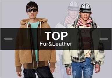 9月份款式庫中皮衣皮草單品流行方向分析: 商務休閑風格有所上浮,占據主流,時尚休閑風格占比下降;最受歡迎的單品是夾克;全毛和全皮的熱度降低,可見紡織面料拼接皮草更受歡迎。