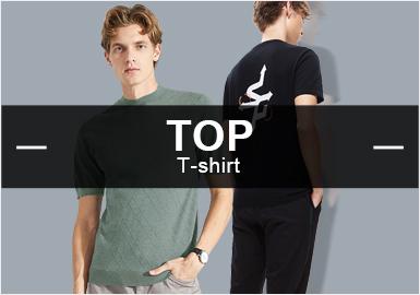 早秋季的男裝毛衫T恤在零售市場中以崇尚簡約的商務休閑風格占據優勢,通過對國內二、三線男裝款式流行品牌的精細篩選,得出工藝與圖案方面的重點元素占比,提花、針法以及字母創作依舊是市場關注熱點,特提煉簡潔設計點在毛衫T恤中的細節運用,帶來這份爆款數據分析報告。