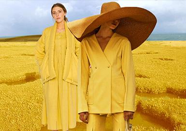 大地黃--女裝主題色彩趨勢