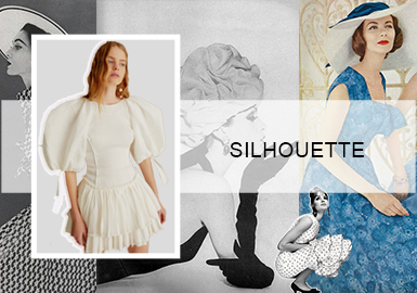 法式优雅--女装连衣裙廓形趋势