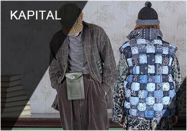 前身为单宁制衣厂的日系潮牌KAPITAL,由平田俊清主理已有30余年历史,亦被粉丝们称为日系民族风品牌中的翘楚。KAPITAL将传统技艺融入后又渐渐形成了一种新的小众文化,品牌的融合与挑拣,打造了风格强大、独树一帜的品牌风格。