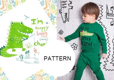 魅力十足小鱷魚--童裝圖案趨勢