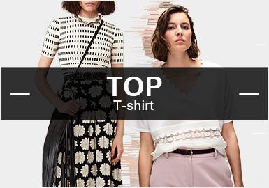 基于用户下载互动数据综合评选出女装毛衫T恤TOP热榜,10月TOP热榜中,少淑女装、简欧中淑及时尚休闲是重点关注风格,其中简欧中淑风格的占比依旧最多,而时尚休闲与前几个月相比关注开始增加;色块、线条是图案设计的热门元素,色块强调使用更多元化的手法展现分割对比,而线条则更多的与其他元素结合使用;工艺上细腻针法设计由于简欧中淑的增加也开始提升,提花和拼接工艺也是t恤款式中的重点工艺。本文特精选出这些热门的款式,重点从工艺、细节、图案、纱线、针法这五个维度展开分析,带来这份女装毛衫T恤TOP热榜分析报告。