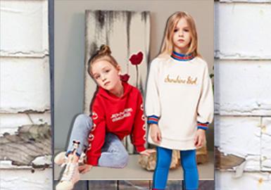 19/20秋冬MQD、little MO&Co.、Mini Peace、Balabala和GXG.kids、这几个关注度极高的女童品牌,主要以运动以及休闲风格为主。在廓形上收脚萝卜裤、阔腿裤、喇叭裤、以及打底裤与洗水牛仔裤是其主要品类,结合不同的款式细节以及面料运用品牌气息明显。