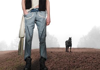 """""""牛仔""""的旅行--男裝牛仔褲廓形趨勢"""