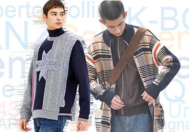 基于用户浏览搜索互动数据评选出男装毛衫零售市场2019年下半年TOP品牌热榜,江南布衣服饰有限公司旗下的CROQUIS成为下半年热搜TOP1;System Homme、Tommy Hilfiger在上半年就处于热搜品牌前十,下半年热度依旧不减;K-BOXING从上半年的20名上升至目前第8名,2019年3月在上海举办第三届男装夹克专场秀,未来、英雄主义风格的秀场布置,金属感面料、几何元素、挺括版型等更受年轻消费者喜爱,邀请奥斯卡影后《惊奇队长》主演布丽·拉尔森到场并推出全球限量系列联名款;LILANZ在下半年一跃成为热搜第10名,这与品牌不断丰富产品结构和加入潮流设计及专注搭配时尚化有很大关系,LILANZ推出的LESS IS MORE轻时尚系列,以更年轻的视角出发,注重产品设计中的细节变化和创意。