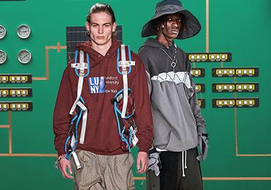 機能延展--男裝衛衣廓形趨勢