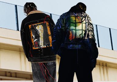随着消费主力的转化,潮流品牌依然深受当下年轻一代的追捧。灯芯绒和颗粒绒以全新的设计强势回归,机能风和运动风依然强劲。在款式的设计上也是追逐着个性独立。其中拼接、刺绣等工艺在款式设计中变得越来越重要。多变的格纹元素一直活跃于潮流时尚圈。