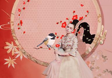 以线代笔,画东方--礼服刺绣图案工艺趋势