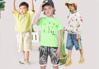 清凉夏日--男童短裤廓形趋势