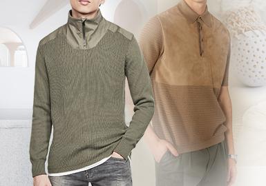 异质碰撞--男装毛衫拼接工艺趋势