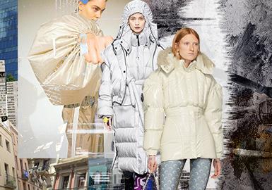 蓬松外貌-女裝棉羽絨廓形趨勢