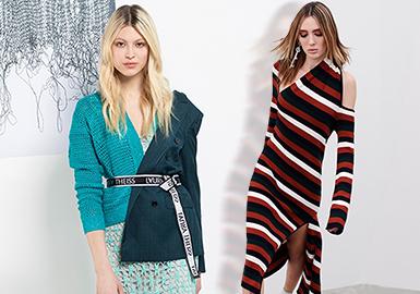 剪裁下的視覺分割--女裝毛衫工藝趨勢