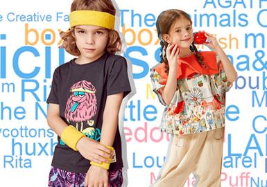 将2020春夏第一季度童装设计师品牌关注数据进行整理,将TOP20的童装设计师品牌进行主流风格占比及设计细节的提炼。其中在本次TOP5中,中国设计品牌有4个品牌进入,同时也表明中国的童装设计师品牌越来越受设计师的关注与认可。