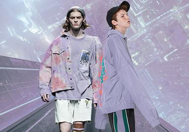 霧光紫--男裝主題色彩趨勢
