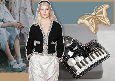 法式珠繡--女裝輔料趨勢