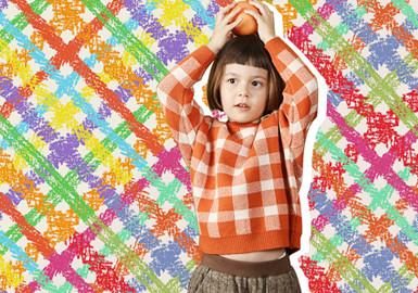 条纹点点格子--童装图案趋势