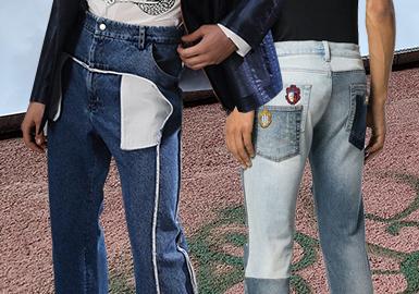 精致再造--男裝牛仔褲口袋工藝趨勢