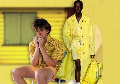 夏日柠檬黄--男装主题色彩趋势