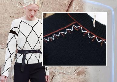 线迹游走--女装毛衫工艺细节趋势