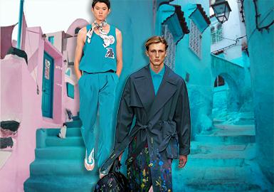 時光藍--男裝主題色彩趨勢