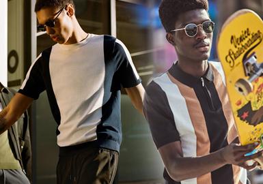 Topman由Sir Philip Green于1978年创立于英国伦敦,隶属Arcadia集团。Topman为年轻时尚男士提供时尚的平价男装,将伦敦的街头复古文化融入设计是品牌特色,旨在打造更加潮流化的高街品牌。2020春夏男装毛衫系列,以年轻的商务休闲风格为主,通过简洁的线面分割将流行色融入其中,渲染出更具活力的男装风格,细腻的针法和拼接工艺凸显出精致的高品质要求。