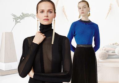 轻简雅致--女装毛衫打底衫廓形趋势