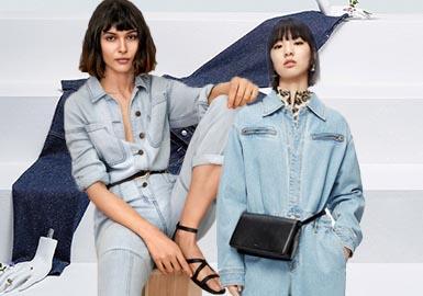 新冠疫情的全球蔓延在春季对牛仔的影响尤为明显,该类别的折扣力度和降价范围均高于服装领域的平均值。零售商通过包邮和延长退换周期等鼓励方式来应对挑战、增加线上销售。随着消费者更加青睐舒适感居家造型,丹宁产品大量降价。直筒和弹性牛仔裤的流行度最高,挤占紧身款式的份额。