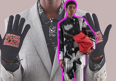 "Off-White的2021早春度假系列,在工作室中开发完成。舞蹈家卡地亚·威廉姆斯(Cartier Williams)穿着2020年秋天的Off-White男装秀,穿着印有""I support young black businesses""字样的T恤。Virgil Abloh也表示对此消息加倍关注。他在新的春季系列中的一副手套上盖上了这个短语,更重要的是,前不久他宣布Virgil Abloh后现代奖学基金,将用于支持黑人,非裔美国人或非洲人后裔。他说:""对我来说,这就像放新衣服一样重要。如今,设计师的角色应该是而且现在是不同的。""Off-White 2021早春系列强调了时髦的剪裁,色块的拼接。街头和高级成衣的结合感毫无违和感,塑造更有冲击力的视觉效果。"