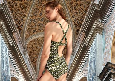 演绎经典款--女装泳装图案趋势