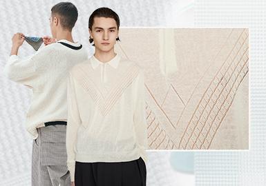 細膩情緒--男裝毛衫(針法)工藝趨勢