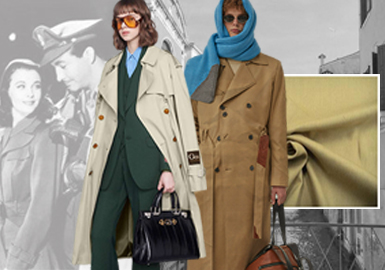 跨季时尚--男女装风衣面料趋势