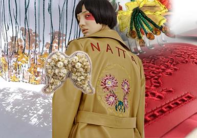 精致刺绣--女装皮衣皮草工艺趋势