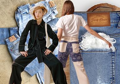 简约升级 耐久包容--女装牛仔口袋工艺细节趋势