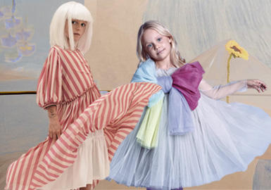 恬靜舒適--女童連衣裙廓形趨勢