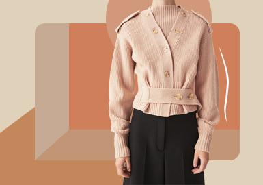 精简开衫--女装毛衫廓形趋势