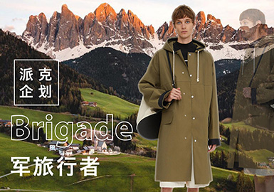 军旅行者--男装派克服主题企划