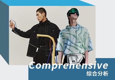 目前国内的时尚休闲品牌当中GXG、Cabbeen及PEACEBIRD为市场中重要的时尚男装休闲风格参考品牌,而TRENDIANO、Fairwhale也同样受到欢迎。本次报告款式提取以线上款为主。临近农历春节的来临,各品牌以中国元素为设计点,将传统文化元素重新演绎成新潮时尚;牛仔夹克依然增加不同元素的图案设计,重新演绎时尚风。本次更是增加畅销单品和同款对比以供参考。