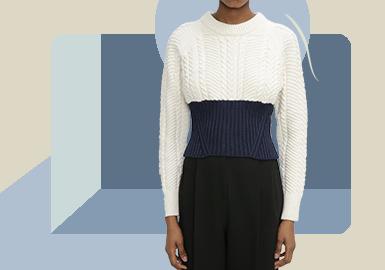 力量线条--女装毛衫套衫廓形趋势
