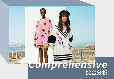 时尚休闲风格的女装毛衫是当代年轻人的代表风格之一,重点展现当代年轻人的青春活力与对时尚的个性追求。从品牌定位将其分为引领时尚的重点品牌和多样变化的次重点品牌。提炼三个代表品牌:PortsPURE、LOEWE、YES OR NO,进行总结并分析设计要点。